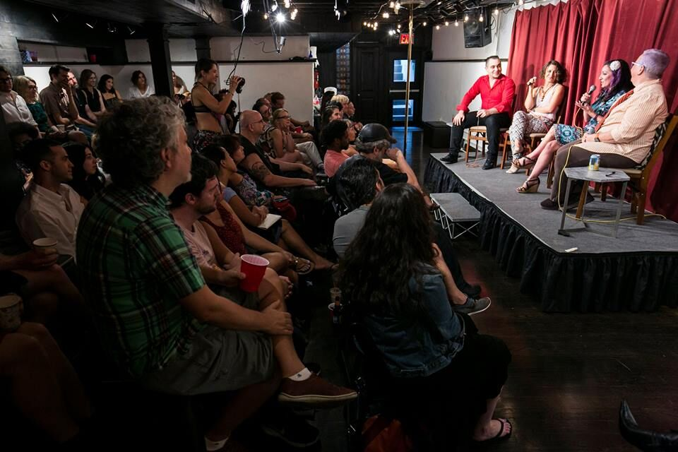 Speaking at Hacienda Studio with Janet Hardy, the co-author of The Ethical Slut.